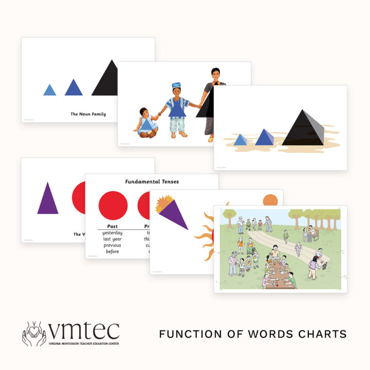 The Montessori Function of Words Charts from Michael Dorer at VMTEC